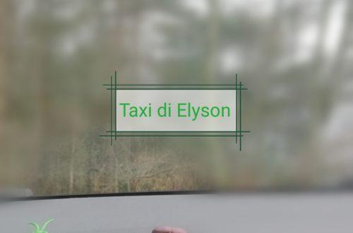 in taxi con Elyson